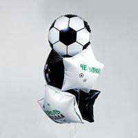 Фонтан из шаров 'Футбол-2', для мальчика, с конфетти, латекс, фольга, 5 шт грузик
