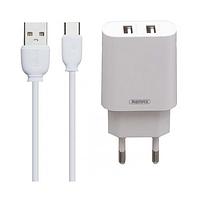 Сетевое зарядное устройство порта 2.1а remax rp-u35 type-c 2 в 1