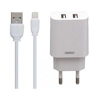 Сетевое зарядное устройство 2.1а remax rp-u35 lighting 2 в 1