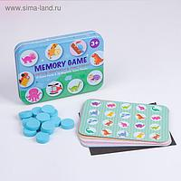 Развивающая игра «Мемори» на магнитах, 15 карточек 17х12,3х2,8 см