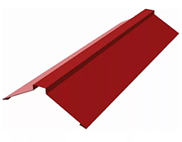 Планка конька плоского 120х120х2000 мм Глянец Красный RAL 3005