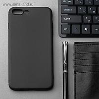 Чехол Innovation, для iPhone 7 Plus/8 Plus, силиконовый, матовый, черный