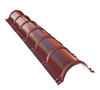 Планка конька круглого R 80х2000 мм Глянец Красный RAL 3005, фото 1