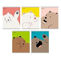 Альбом для рисов. 40л А4 на склейке -Привет от мишки- Эксмо 2008