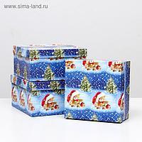 """Набор коробок 3 в 1 """"Мишки НГ"""", 25,5 х 25,5 х 13 - 21,5 х 21,5 х 11 см"""