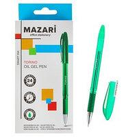 Ручка шариковая Mazari Torino, игольчатый пишущий узел 0.7 мм, чернила зелёные на масляной основе (комплект из