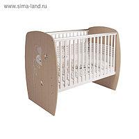 Кровать детская Polini kids French 700, Amis, белый-дуб пастельный