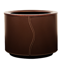 Кашпо с автополивом для растений из древесины обшитой кожей , Серия Cuir производитель HobbyFlower Spain