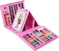 Набор художника 208 предметов Розовый