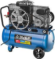 Компрессор воздушный ременной ЗУБР ЗКПМ-440-50-Р-2.2, 2200 Вт, 440 литров в минуту