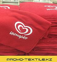 Флисовые Пледы с логотипом и вышивкой на заказ