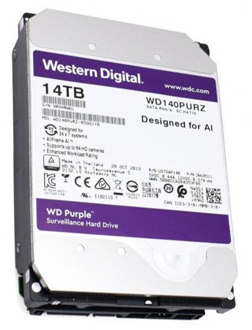 "Жёсткий диск HDD 14 Tb SATA 6Gb/s Western Digital Purple 3.5"" 7200rpm 512Mb"