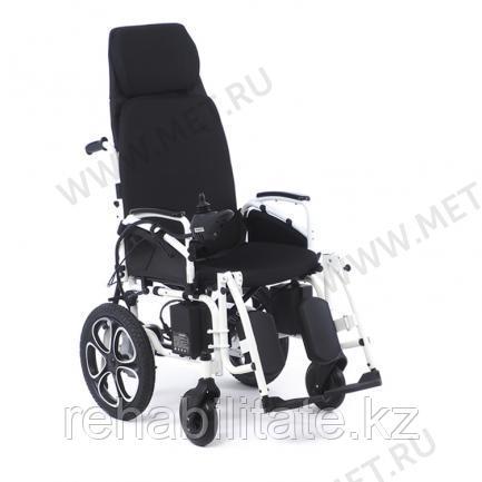 Электрическая кресло коляска, раскладываемая в горизонталь, с self-откидной спинкой.MET COMFORT 85