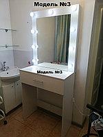 Зеркало визажное с тумбой на 90см Модель 3
