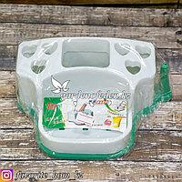 Органайзер для ванных принадлежностей. Материал: Пластик. Цвет: Белый/Зеленый.