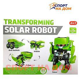 Конструктор робот трансформер на солнечных батареях  4 в 1 Solar Robot
