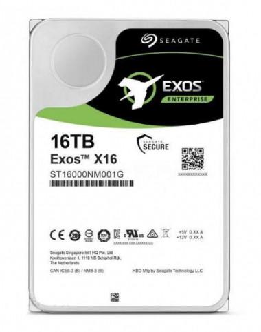 "Жёсткий диск HDD 16 Tb SATA 6Gb/s Seagate Exos X16 3.5"" 7200rpm 256Mb"