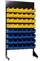 Стеллаж с пластиковыми ящиками 1801-0/0/8п G-S
