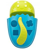Органайзер-сортер Roxy Kids Dino с полочкой для хранения игрушек и банных принадлежностей Голубой