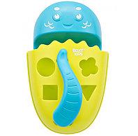 Органайзер-сортер Roxy Kids Dino с полочкой для хранения игрушек и банных принадлежностей Зеленый