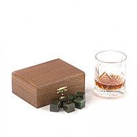 Камни для виски 6 кубиков из нефрита в подарочной упаковке