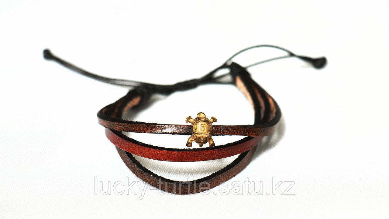 Кожаный браслет 15 - фото 1