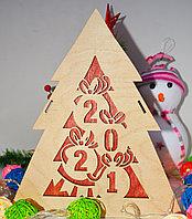 """Подарочная коробка """"Новогодняя ёлка"""" деревянная"""