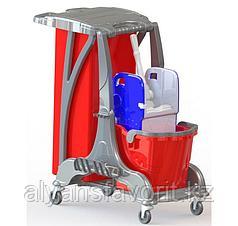 Одноведёрная тележка для уборки.1х25 литров.Турция
