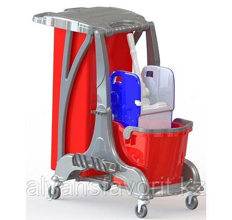 Одноведёрная тележка для уборки.1х25 литров.Турция, фото 2