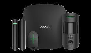 Продвинутый стартовый комплект системы безопасности Ajax StarterKit Cam Black