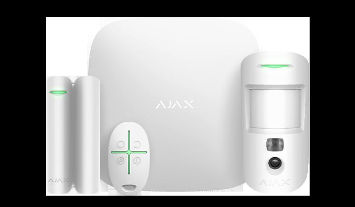 Продвинутый стартовый комплект системы безопасности Ajax StarterKit Cam White