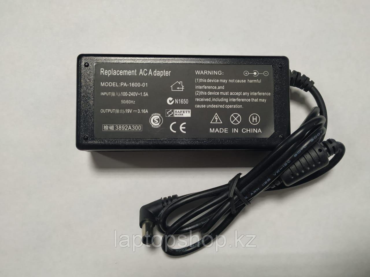 Блок питания для ноутбуков FUJITU PA-1600 19V 3.16A 60W 6.0*4.0