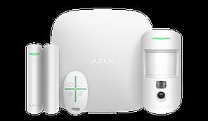 Продвинутый стартовый комплект системы безопасности Ajax StarterKit Cam Plus White
