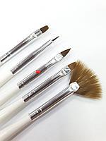 Кисть мини набор 5шт (деревянная ручка)