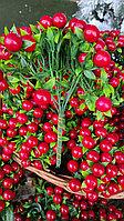 Декоративные ягодки на проволоке 10 шт