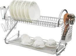 Сушилка для посуды SAKURA 2х уровневая