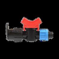 Стар-коннектор, муфта, соединитель, фитинг, ремонтник для капельной ленты, диаметр 16 мм, фото 1
