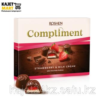Конфеты Рошен Compliment с клубнично-молочной начинкой 123г.