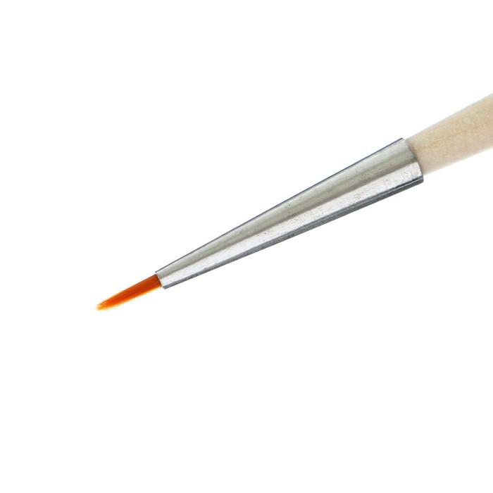 Кисть Синтетика Круглая №0 (диаметр обоймы 1 мм; длина волоса 5 мм) ручка дерево, Calligrata