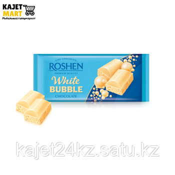 Шоколад Рошен пористый белый 85г.