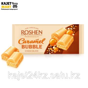 Шоколад Рошен пористый белый карамельный 85