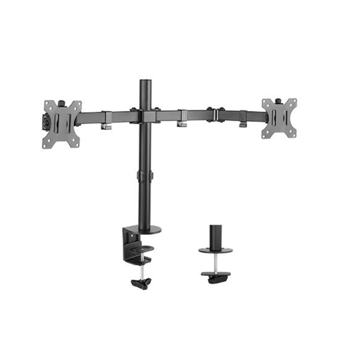 "Настольный кронштейн для мониторов, Brateck, LDT12-C024N, 13""-32"", Нагрузка 2х8 кг., Наклон +/- 45°,"