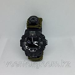 Часы тактические с паракордовым браслетом.