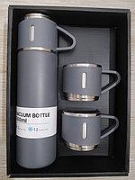Термос для горячих и холодных напитков в наборе с 3-мя чашками, 500 мл