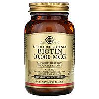 Биотин 10000 мкг, Solgar, 120 капсул