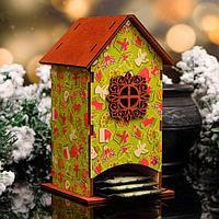 "Чайный домик ""Новогодние подарки"", 8,5х9х18см"