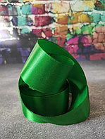 Атласная лента зеленая , 4см*25м