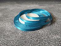 Атласная лента голубая , 0,5см*25м
