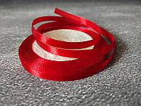 Атласная лента красная , 0,5см*25м