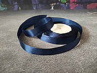 Атласная лента темно синяя , 1 см*25м